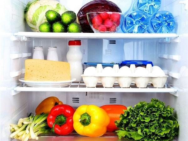 Lưu trữ thức ăn trong tủ lạnh