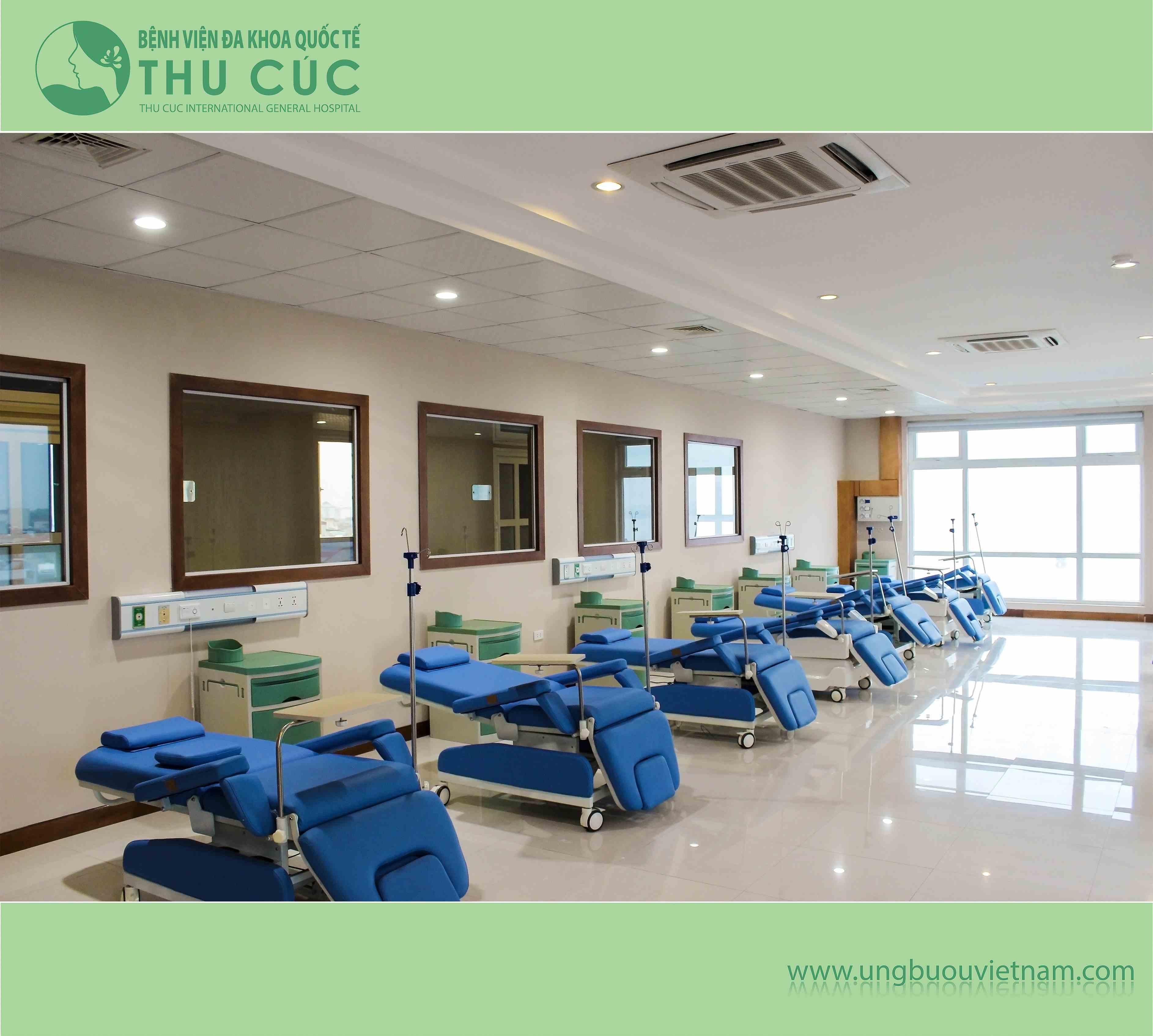 Khu vực hóa trị tại Bệnh viện Thu Cúc