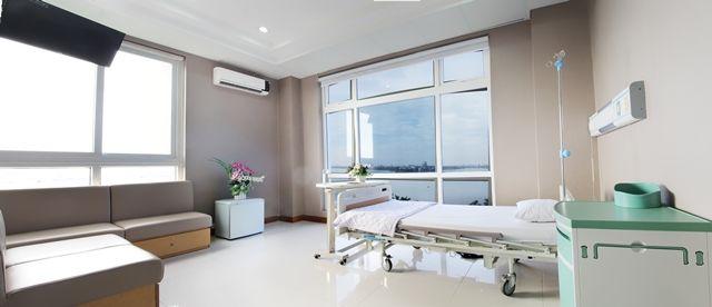 Phòng điều trị ung thư hiện đại, tiện nghi tại Bệnh viện Thu Cúc.