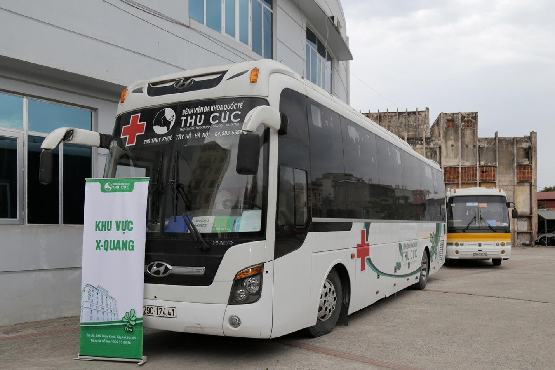Xe chụp Xquang với trang bị đầy đủ các thiết bị y tế tối tân sẵn sàng phục vụ người dân