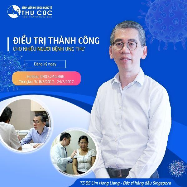 Lịch tư vấn điều trị ung thư TS.BS Lim Hong Liang tháng 7/2017