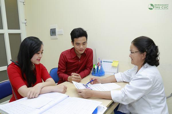 Chị em cần đi khám để bác sĩ tư vấn phương pháp điều trị phù hợp