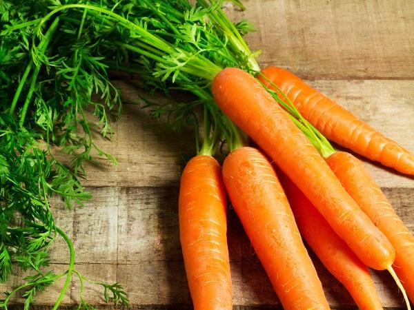 Cà rốt giàu dinh dưỡng cũng rất tốt cho người bệnh ung thư cổ tử cung