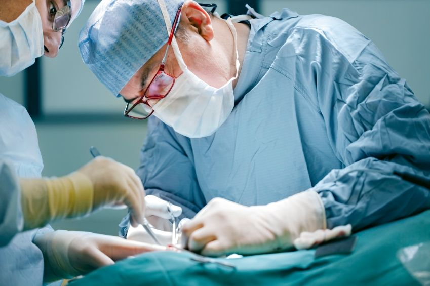 surgery in a operating room.